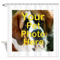Custom pet photo Shower Curtain on CafePress.com