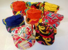 Vintage New Old 1980's/1990's Fresh Prince, Keith Haring-esc Snap Backs - Deadstock Abstract Flat Bill Baseball Hats
