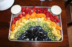 Love this Fruit Rainbow!