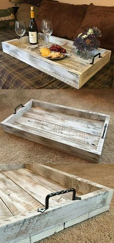 This Simple, Rustic Farmhouse Serving Tray Would Be A Perfect Addition To  Your Coffee Table