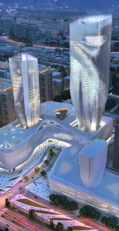 Scitech Plaza, Beijing, China by UN Studio :: height 220m,