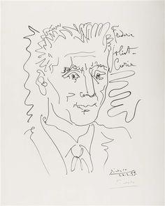 Portrait of Frederic Joliot-Curie - Pablo Picasso