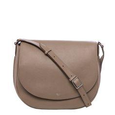 2443233f259ec3 Celine Trotteur Taupe Grained Leather Shoulder Bag