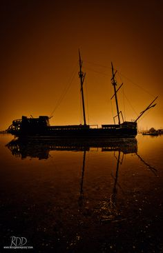Sunken ship in Lake Ontario.