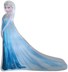 5' DISNEY FROZEN ELSA IN ICE BLUE DRESS Gemmy Christmas LED Airblown Inflatable