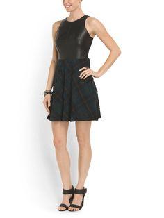 A little black & plaid dress.