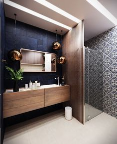 zen Bathroom Decor I would replace the vanity with a vintage repurpos / Navy Bathroom, Zen Bathroom, Bathroom Renos, Bathroom Furniture, Master Bathroom, Bathroom Ideas, Antique Furniture, Vanity Bathroom, Rustic Furniture