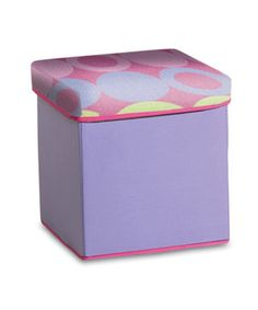 I'd like several! This collapsible storage ottoman is designed with an easily removable lid to make messes magically disappear. Store blankets, toys, books and more for effortless organization, and fold it flat when not in use.