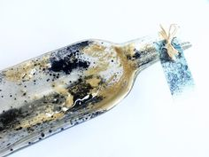 Bottle dish melted recycled bottle snack dish by KilnFiredArt, £16.00