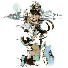 Solid Snake illustration from Metal Gear Solid 2