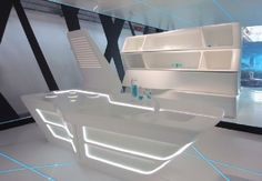 Kitchen Furniture Design in TRON Legacy Inspiration for Home Designing Futuristic Interiors