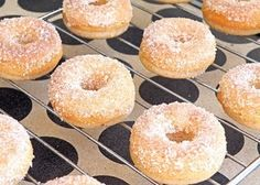 Baked cider donuts!  Ordered mini donut pans and will be making these when the grandkids are here in a couple weeks!