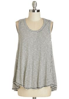 Start the Sway Right Top. Greet the rising sun in the cool and casual style of this striped tank!  #modcloth