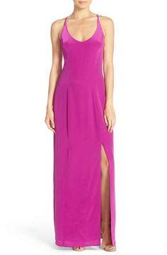 Charlie Jade Strappy Back Silk Maxi Dress