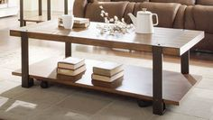 Home Elegance He-3438-30 Northwood Collection Rectangle Cocktail Table