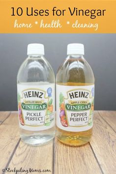10 AMAZING uses for Vinegar!  Great for home, health and cleaning!  Read this post for 10 great uses!
