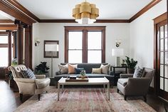 Cozy Small Family Room Ideas to Make Your Living Space Feel Larger Living Room With Fireplace, My Living Room, Home And Living, Living Room Decor, Living Spaces, Dark Wood Living Room, Craftsman Living Rooms, Craftsman Interior, Craftsman Houses