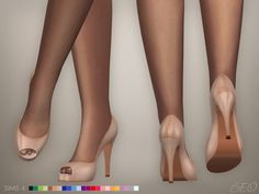 Sims 4 Updates: BEO Creations - Shoes, Shoes for females : Anastasia shoes, Custom Content Download!