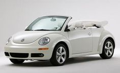 2007 Volkswagen New Beetle Convertible Triple White Available color of 2007 Volkswagen New Beetle Convertible Triple White Car is Campanella White . 2007 Volkswagen New Beetle Convertible Triple Wh… Volkswagen New Beetle, Beetle Car, Volkswagen Golf, Volkswagen Convertible, Vw Cabrio, Golf 2, Cute Cars, Car Girls, Cars Motorcycles