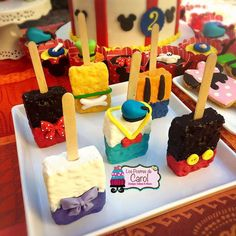 Fun treats at a Mickey Mouse birthday party! See more party ideas at CatchMyParty.com!