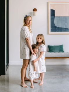 Matching mama and mini house dresses / nightgowns!
