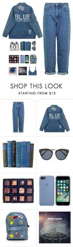 """5935"" by tiffanyelinor ❤ liked on Polyvore featuring Topshop, Fila, Le Specs, Rococo Chocolates, Polaroid and J Brand"