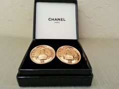 100% authentic CHANEL earrings by VINT2G on Etsy