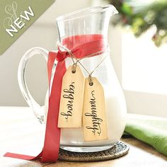 """Mark alcoholic/non alcoholic drinks with """"naughty"""" or """"nice"""" tags. Cute!    Southern Living Set of 6 Holiday Tags"""