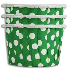St. Patrick's Day Party Supplies: Green Polka Dot Nut Cups // Layer Cake Shop