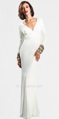Sleek Open Back Evening Dresses by Nika-image