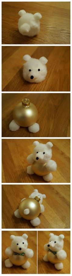DIY Teddy Bear ornam