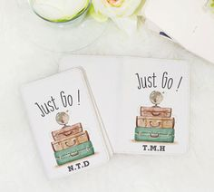 Just go passport holder personalized passport by WanderlustCover