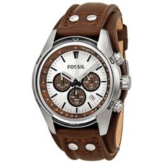 Fossil Men's CH2565 Cuff Chronograph Tan Leather Watch | Your #1 Source for Watches and Accessories