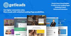 Buy Getleads High-Performance Landing Page WordPress Theme by XpeedStudio on ThemeForest. Your High-Performance Landing Page WordPress Theme Getleads is a versatile, high-performance landing page solution fo. Landing Page Builder, App Landing Page, Landing Page Design, Page Template, Website Template, Marketing Professional, Business Marketing, Internet Marketing, Online Business