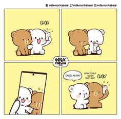 Love Cartoon Couple, Cute Cartoon Pictures, Cute Love Pictures, Cute Love Gif, Cute Love Cartoons, Cute Bear Drawings, Cute Cartoon Drawings, Cute Emoji Combinations, Funny Memea
