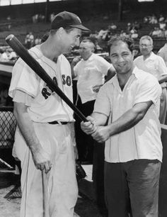Ted Williams and Rocky Marciano, World Heavyweight Boxing Champion who retired .undefeated