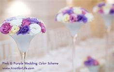 Pink and Purple Wedding Color Scheme