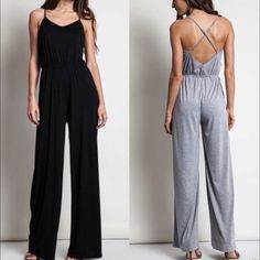 1 HR SALEThe MIKESA wide leg jumper 2 colors HPx4How freaking hot is this wide leg jumper? Come on! I'm so ready for spring! Living in Cali we don't see much of winter. AVAILABLE IN BLack, MOCHA & H. GREY‼️NO TRADE‼️ Bellanblue Pants