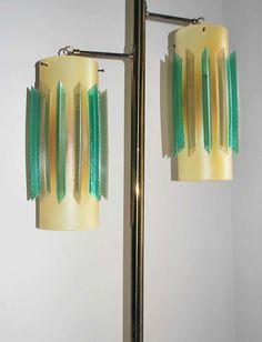 My kitchen lamp!!  mine is a teak pole, but the shades are just like this !!!!Tension pole lamp shades.