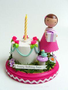 custom cake topper from lollipopworkshop