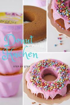 Donut Kuchen Rezept  - einfach! https://www.minimenschlein.de/rezepte/donut-kuchen-rezept-fuer-einen-einfachen-party-donut