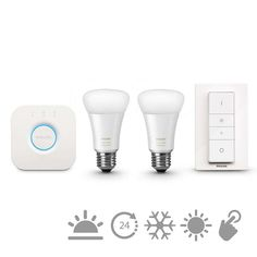 Kit Philips Hue white ambiance, 9.5W, A60, E27 http://www.etbm.ro/philips-hue---connected-lighting