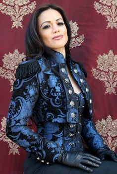 TOREADOR JACKET - BLUE AND BLACK TAPESTRY Don't like the top, but my goodness that jacket! Hello, new store for me to drool at