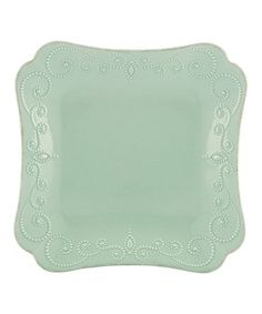 Ice Blue French Perle Square Dinner Plate