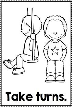 bad manners clip art black and white sketch coloring page