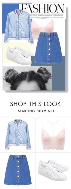"""""""💋HELLO!"""" by onmyunicorn4evs ❤ liked on Polyvore featuring MANGO, Charlotte Russe, Miss Selfridge and adidas Originals"""