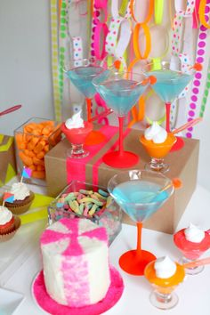 #martini #neon   Read more - http://www.stylemepretty.com/2013/04/26/party-theme-neon-celebration/