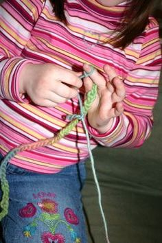 How to Teach a Child to Knit or Crochet