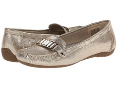 Anne Klein Anne Klein  AKNearme Gold Reptile Womens Slip on Shoes for 55.99 at Im in!