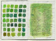 sketch book greens